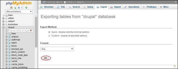 Drupal Site Backup