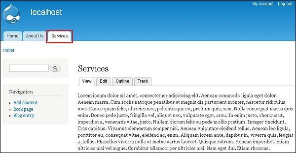 drupal static pages