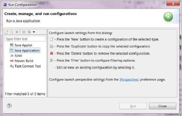 Eclipse - Run Configuration