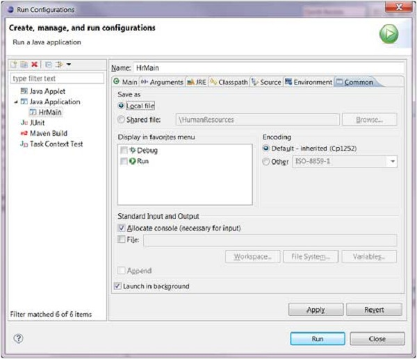 Create Manage and Run Configuration