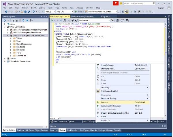 Entity Framework - Stored Procedures - Tutorialspoint