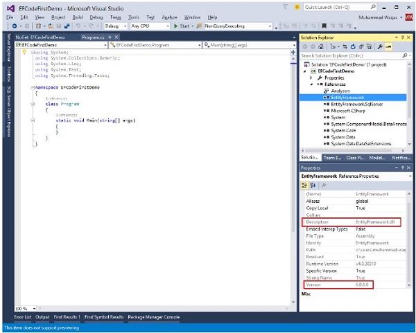 entity framework 5.0 dll