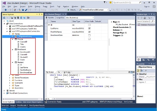 Entity Framework - Database First Approach