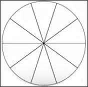 Image result for circle divided 10 equal parts