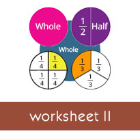 introduction of fractions worksheets previous page
