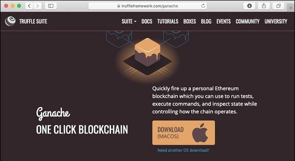 Ethereum - Ganache for Blockchain - Tutorialspoint