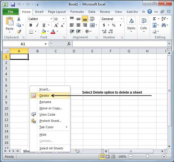 Delete Worksheet in Excel 2010 – Excel Worksheet Name