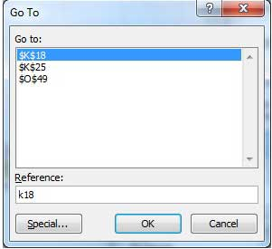 Excel Go To Command