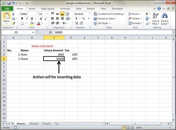 Insert Data In Excel 2010