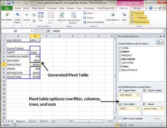 Pivot Table Example Data