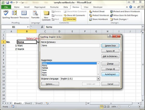 Spell Check in Excel 2010  Spell Check in ...
