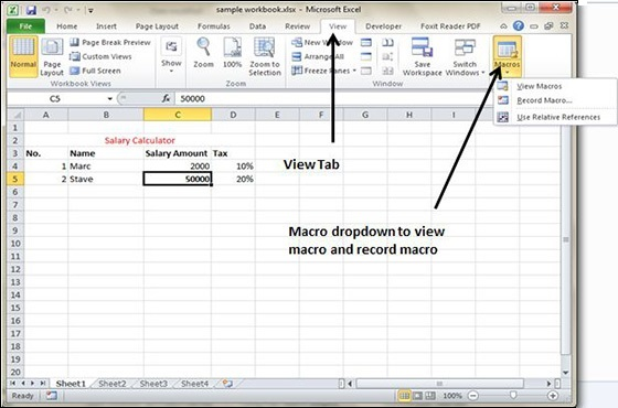 Using Macros in Excel 2010