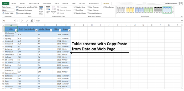 Adding Tables to Data Model