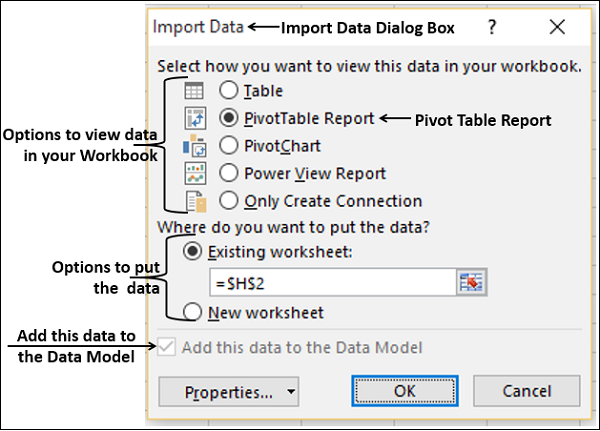 Analyze Imported Tables