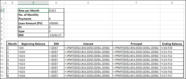 Calculate Interest and Principal