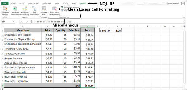Cleaning Excess Cell Formatting