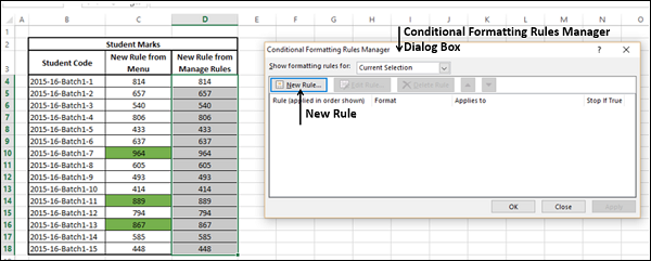 Conditional Formatting Rules Manager