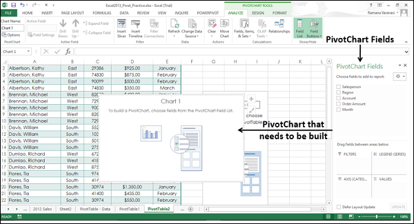 Empty PivotTable