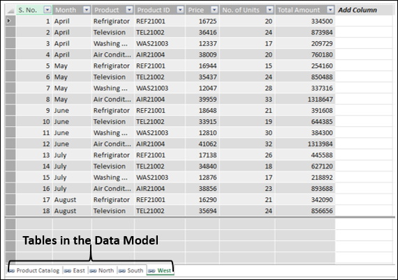 Excel Data Window