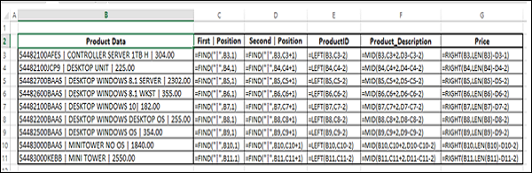 Extract Data Values