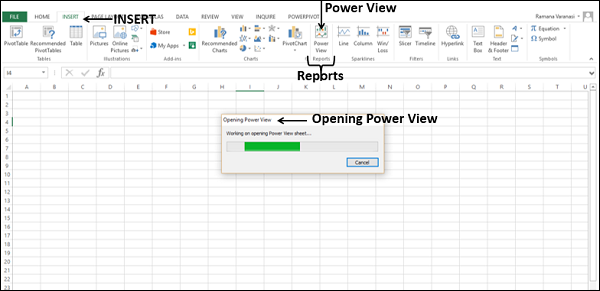 Opening Power View