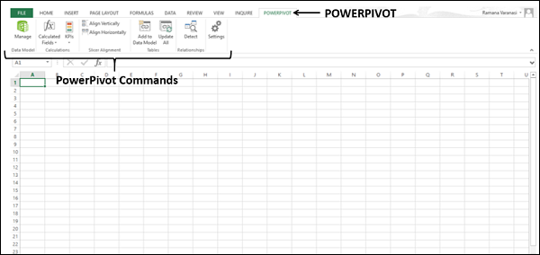 PowerPivot Commands