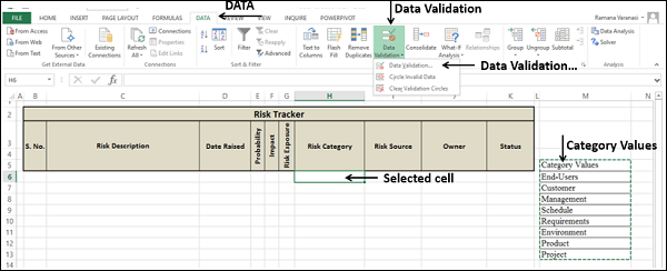 Select Data Validation