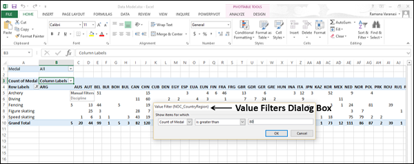 Value Filters