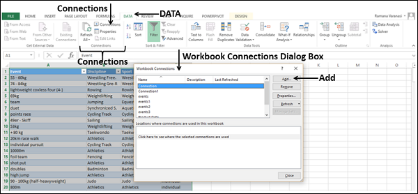 Workbook Connections