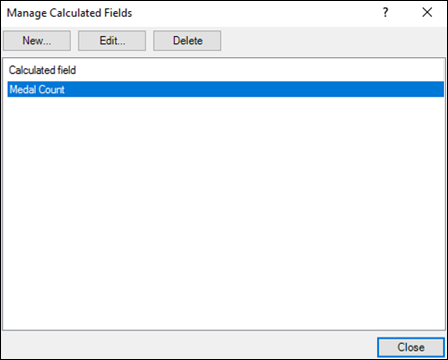 Changing a Calculated Field in the Manage Calculated Fields