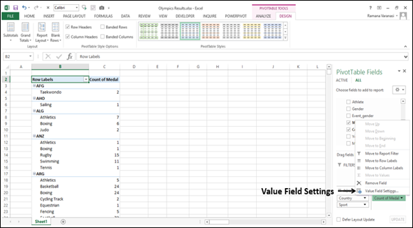 Creating an Implicit Calculated Field in Values Area