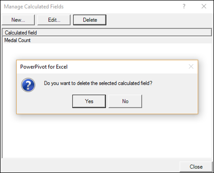 Manage Calculated Fields Dialog