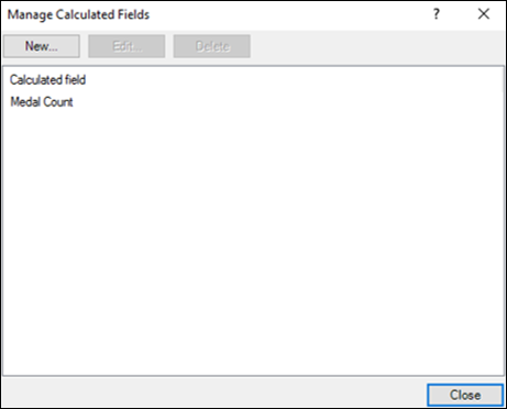 Manage Calculated Fields dialog box