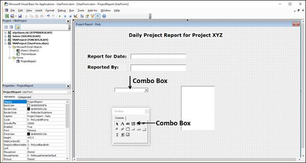 Excel Macros - UserForms - Tutorialspoint