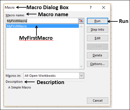 Excel Macros - Quick Guide