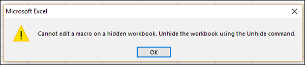 Hidden Workbook