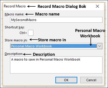 Excel Macros - Macros in a Single Workbook