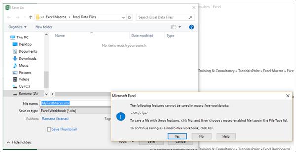 Excel Macros - Quick Guide - Tutorialspoint