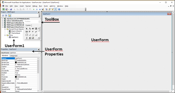 Understanding UserForm