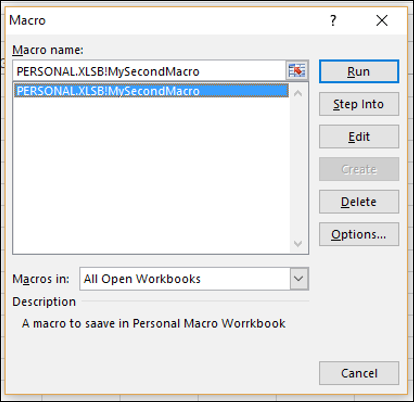 Excel Macros - Macros in a Single Workbook