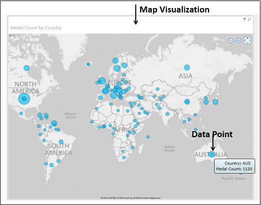 Map Visualization Data Point