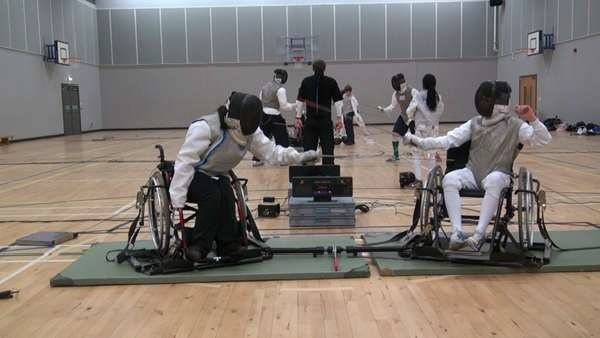 Wheelchair Fencing Game