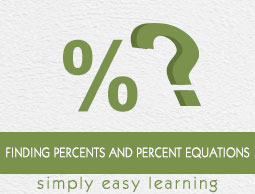 Finding Percents and Percent Equations