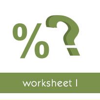 Finding a percentage of a whole number: Worksheets