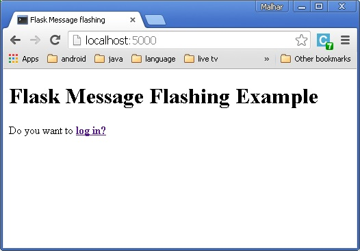 Flask – Message Flashing