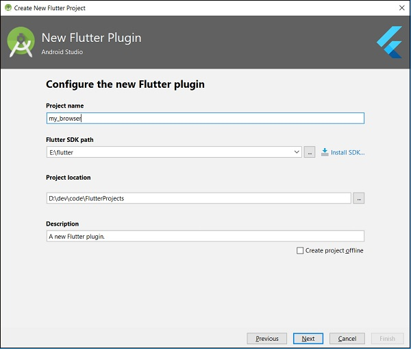 Configure New Flutter Plugin