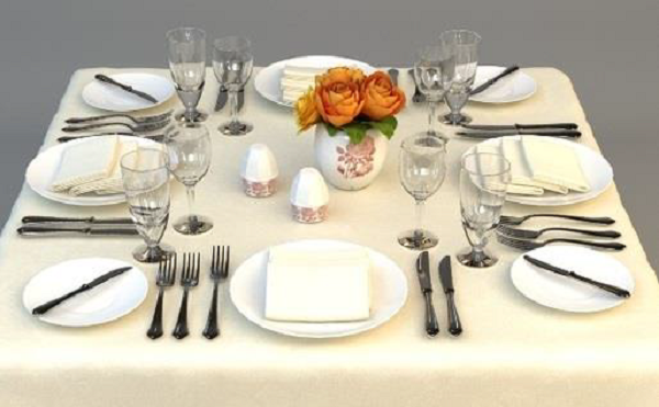 Table Layout For Formal Dining