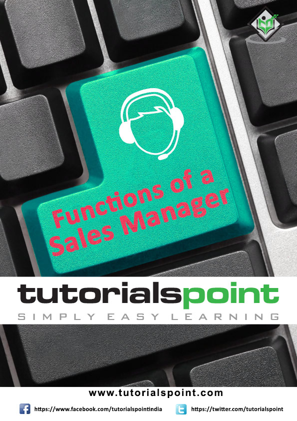 Functions of a Sales Manager Tutorial