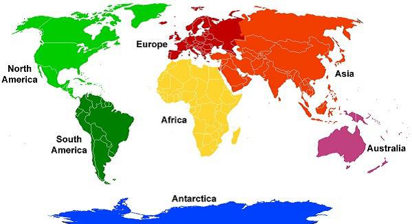 General Knowledge Facts of Continent