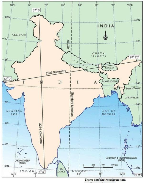 India Neighbor Map